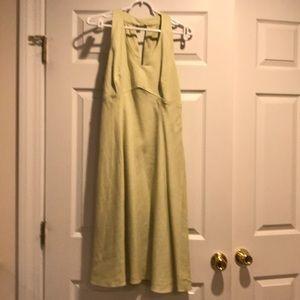 LOFT linen blend, spring green dress